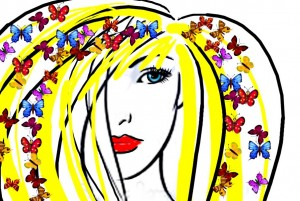 Butterfly blonde